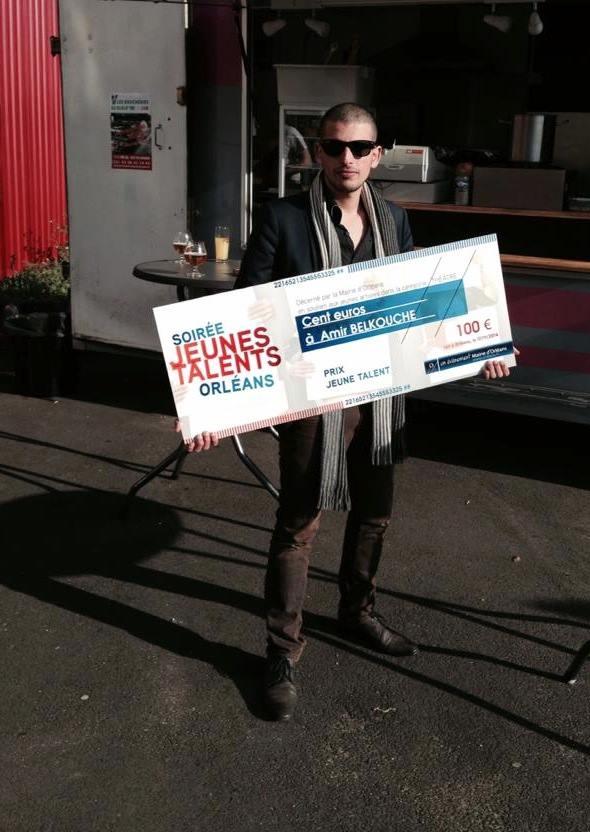Amir Belkouche est le lauréat du Prix Jeunes Talents d'Orléans !
